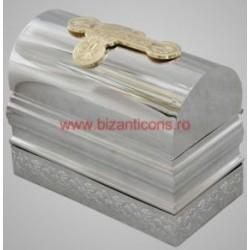 TRUSA BOTEZ mica - argintata - cruce aurita