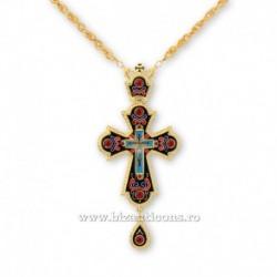 Cruce pectorala aurita - email negru