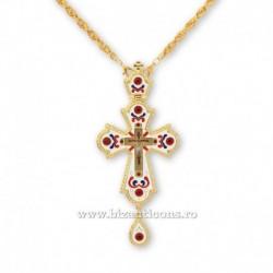 Cruce pectorala aurita - email alb