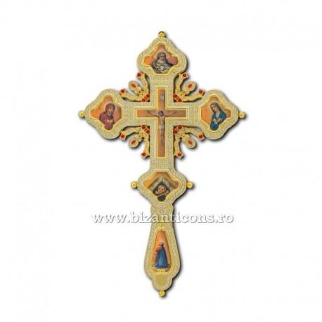 Cruce Binecuvantare Aurita - cu icoane