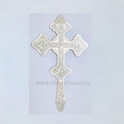 Cruce Binecuvantare Argintata - mica - gravata