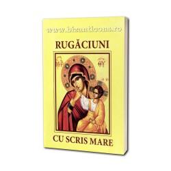 Carte de Rugaciuni - scris mare - galbena