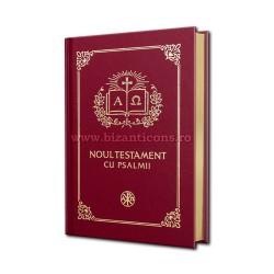 71-424 Noul Testament cu Psalmi - maro cotor aurit - mic