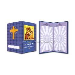 Pomelnic carton - albastru - MD cu Pruncul 10/set