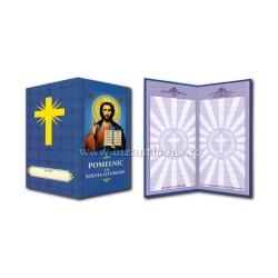 Pomelnic carton - albastru - M Pantocrator 10/set