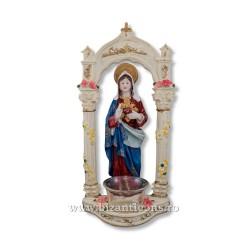 Maica Domnului - candela rasina 26 cm