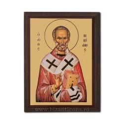 Icoana pe lemn - fond auriu 19,5x26,5 - Sf Nicolae