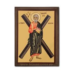 Icoana pe lemn - fond auriu 19,5x26,5 - Sf Andrei
