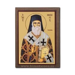Icoana pe lemn - fond auriu 19,5x26,5 - Sf Nectarie