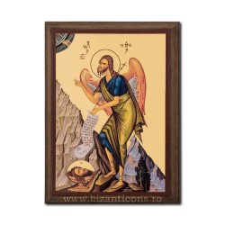 1830-121 Icoana fond auriu 19,5x26,5 - Sf Ioan Botezatorul