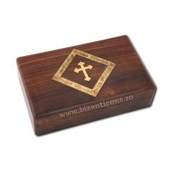 CUTIE altar lemn + cruce metal V208-19