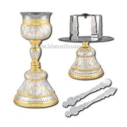 SET SF VASE 550 ml aurita si argintata Rus 2 - X16-132 / 18-74