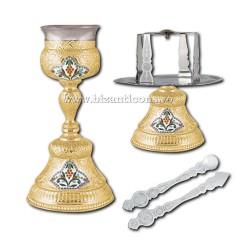 Sfinte Vase 0,5 litri - aurit - medalion email X16-134 / 14-41