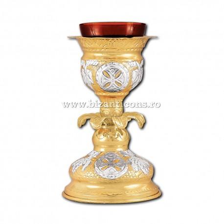 Candela masa - aurita si argintata X36-280